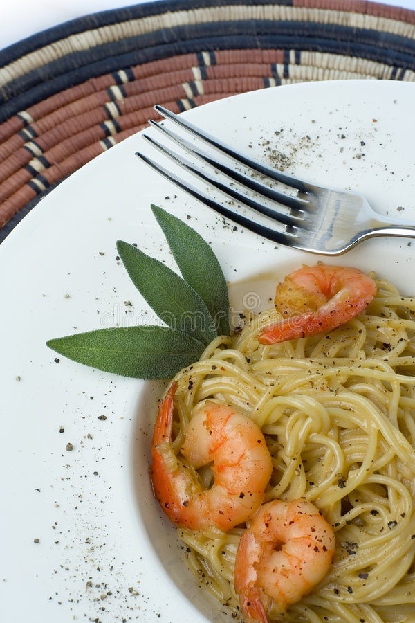 Download Prawns And Pasta Series Royalty Free Stock Images - Image: 2024059