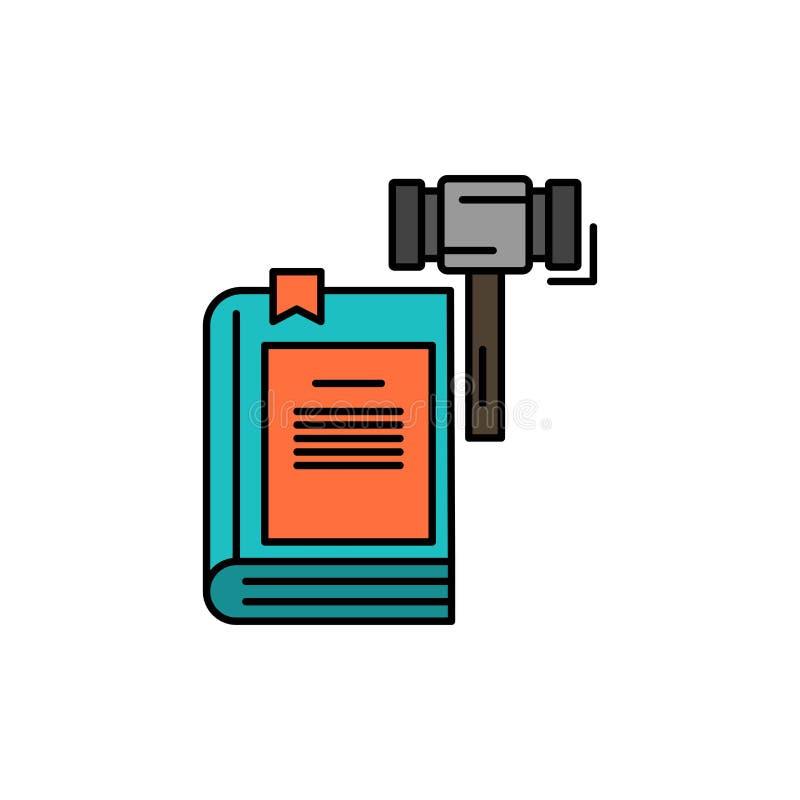 Prawo, akcja, aukcja, sąd, młoteczek, młot, Legalna Płaska kolor ikona Wektorowy ikona sztandaru szablon ilustracji