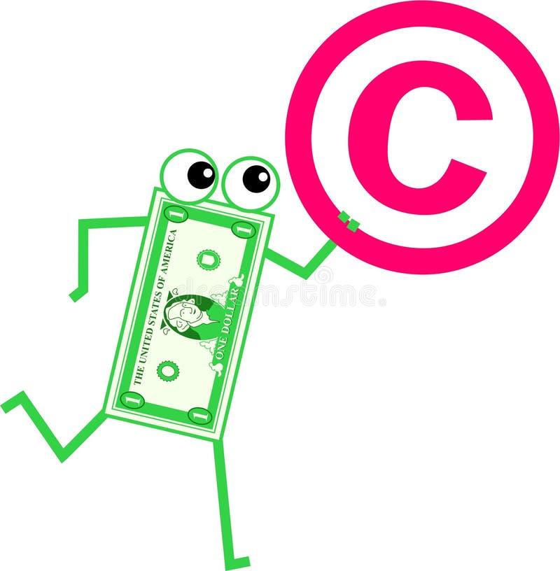 prawo autorskie dolar ilustracja wektor
