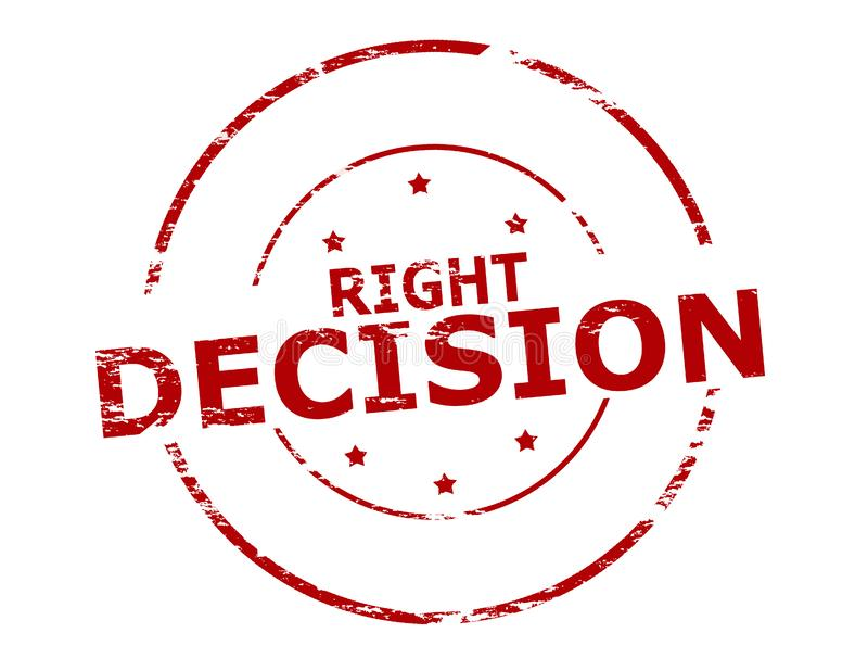 prawo decyzji ilustracji