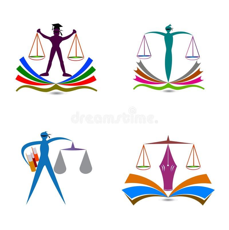 Prawo edukaci logo ilustracja wektor