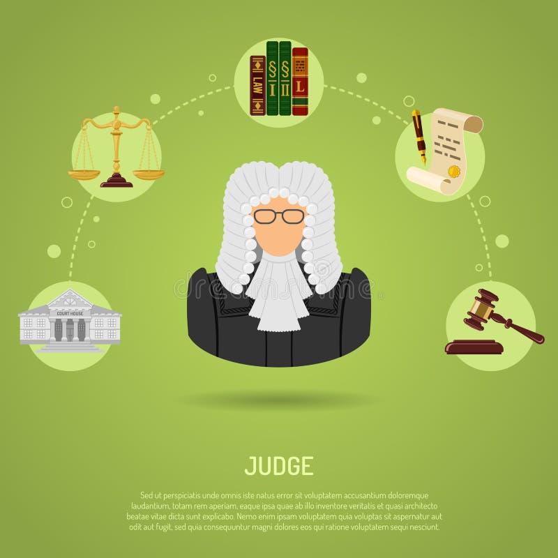 Prawo i porządek pojęcie royalty ilustracja