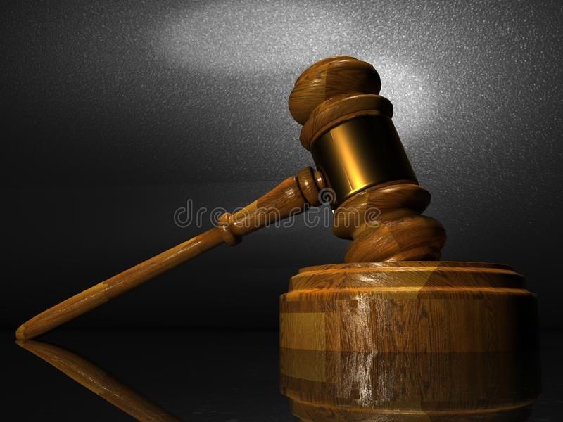 Prawo i sprawiedliwość sądu sędzia Jegal ilustracji