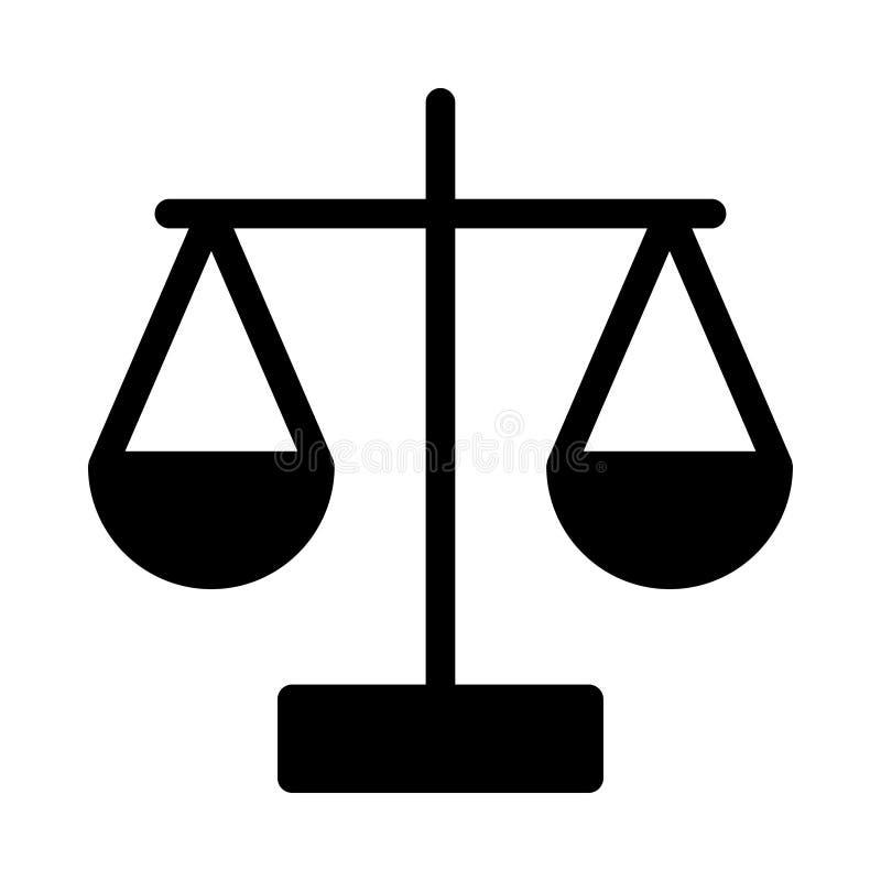 Prawo ikona ilustracja wektor