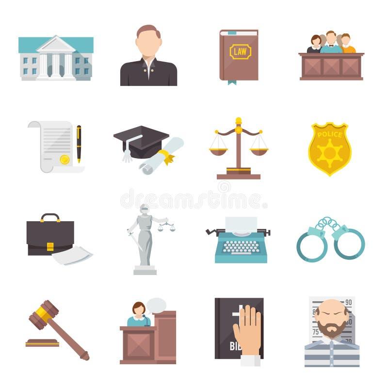 Prawo ikony mieszkanie ilustracji