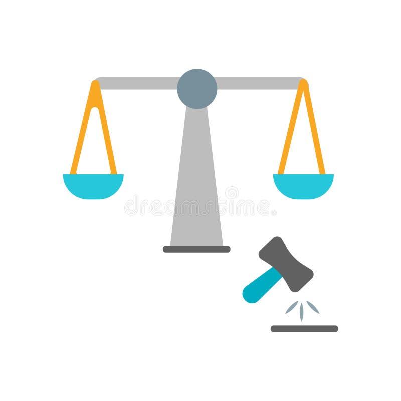 Prawo ikony wektor odizolowywający na białym tle, prawo znak ilustracji