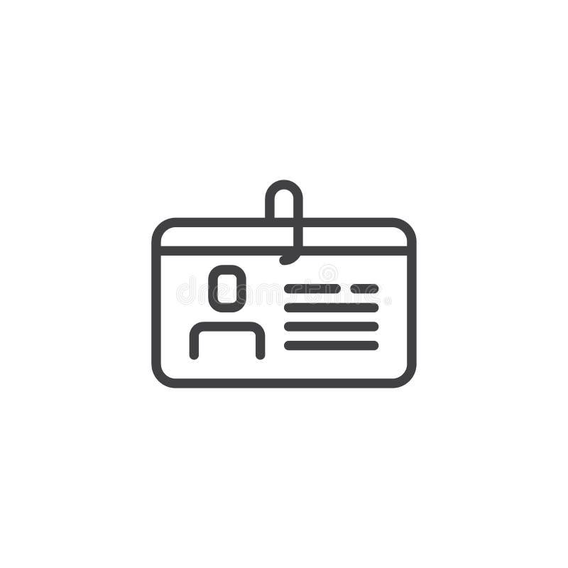 Prawo jazdy kreskowa ikona ilustracji