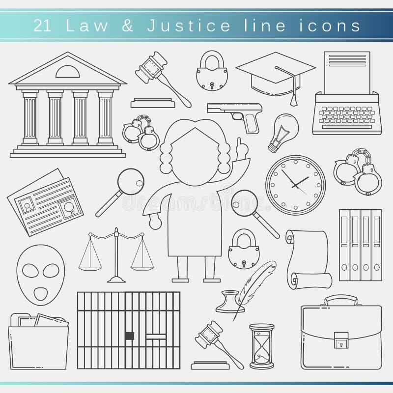Prawo kreskowe ikony royalty ilustracja