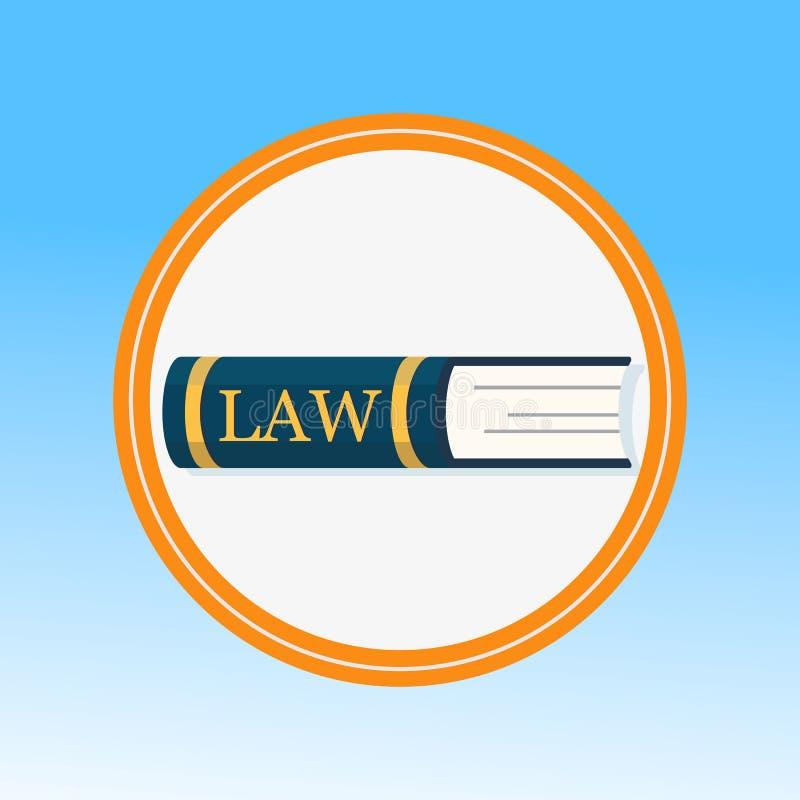 Prawo książka, Legalnej edukacji Płaska Wektorowa ilustracja ilustracji