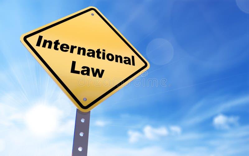 Prawo międzynarodowe znak ilustracji