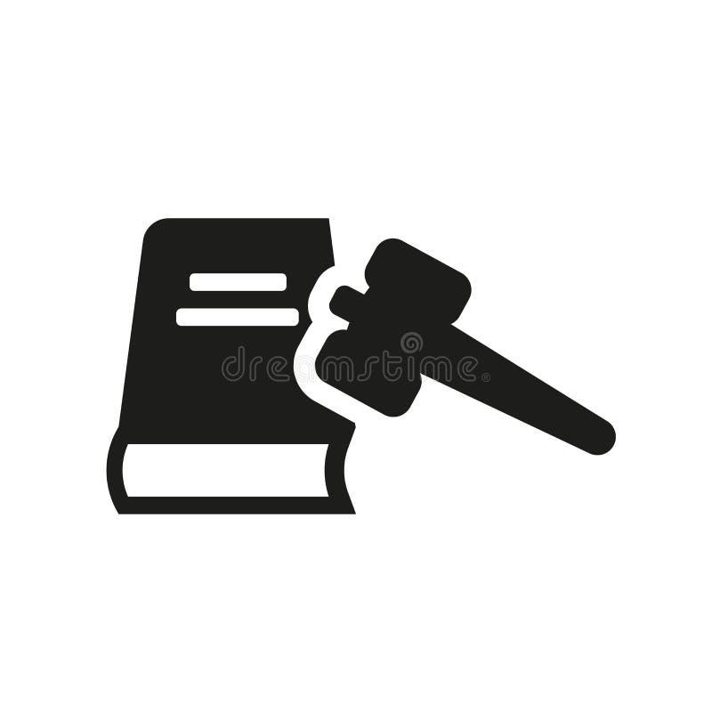 prawo obywatelskie ikona Modny prawo obywatelskie logo pojęcie na białym bac ilustracji