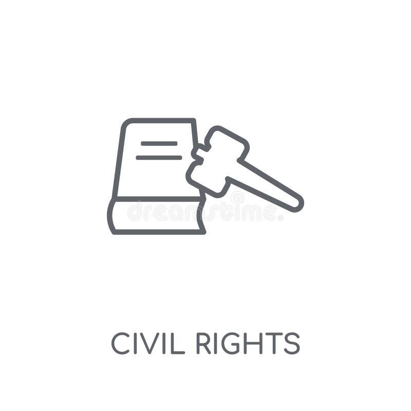 prawo obywatelskie liniowa ikona Nowożytny konturów praw obywatelskich logo conce ilustracja wektor