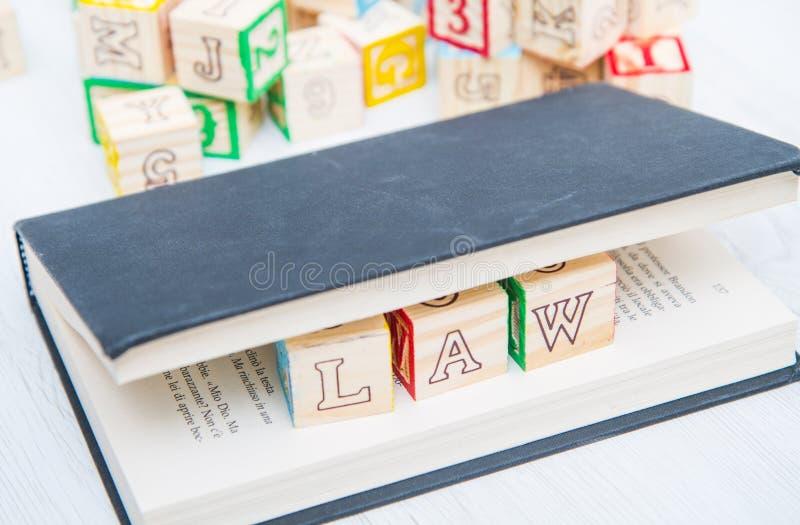 Prawo pisać na drewniani sześciany fotografia royalty free