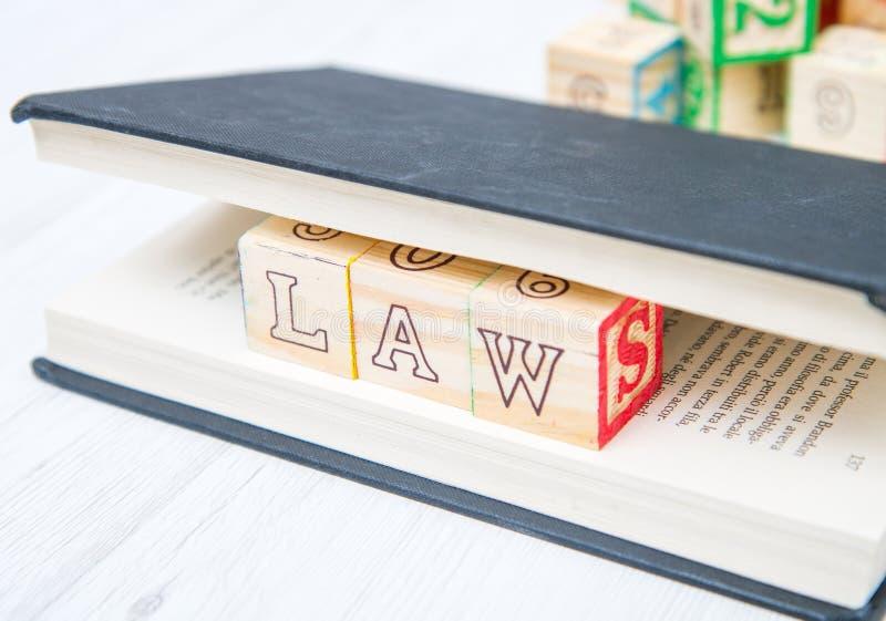 Prawo pisać na drewniani sześciany obrazy royalty free