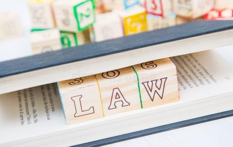 Prawo pisać na drewniani sześciany zdjęcie royalty free