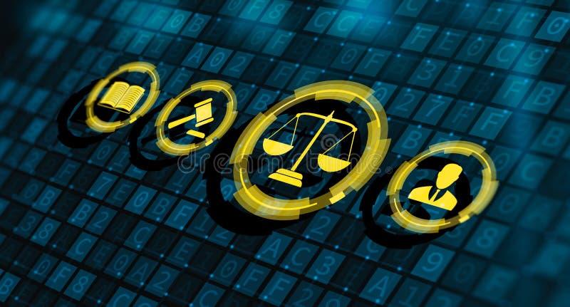 Prawo Pracy prawnika technologii Legalny Biznesowy poj?cie ilustracja wektor