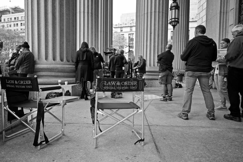Prawo & rozkaz, SVU obsada i ekipa filmowa NYC fotografia royalty free