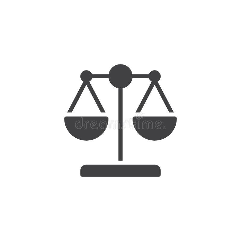 Prawo szalkowa wektorowa ikona royalty ilustracja
