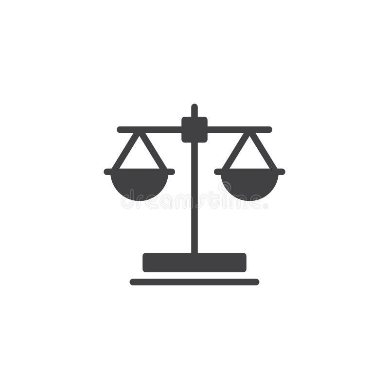 Prawo szalkowa wektorowa ikona ilustracja wektor
