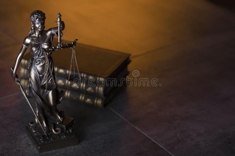 Prawo temat Niewidomy sprawiedliwość symbol - Themis obraz royalty free