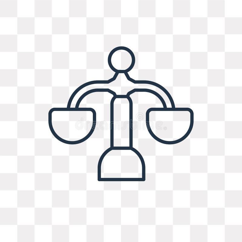 Prawo wektorowa ikona odizolowywająca na przejrzystym tle, liniowy prawo t ilustracja wektor