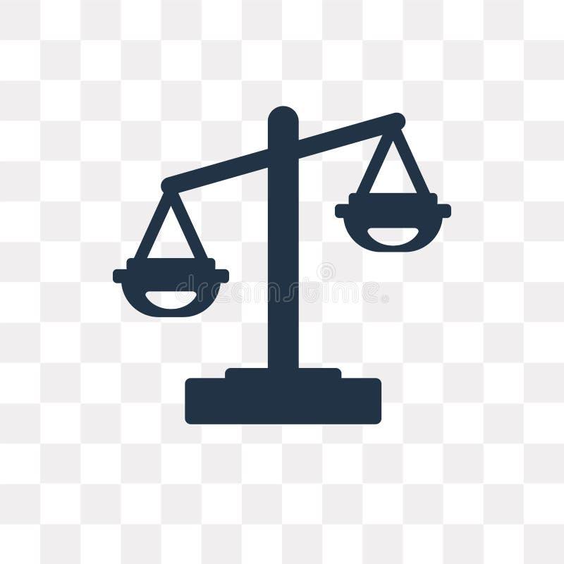 Prawo wektorowa ikona odizolowywająca na przejrzystym tle, prawa transpa ilustracji