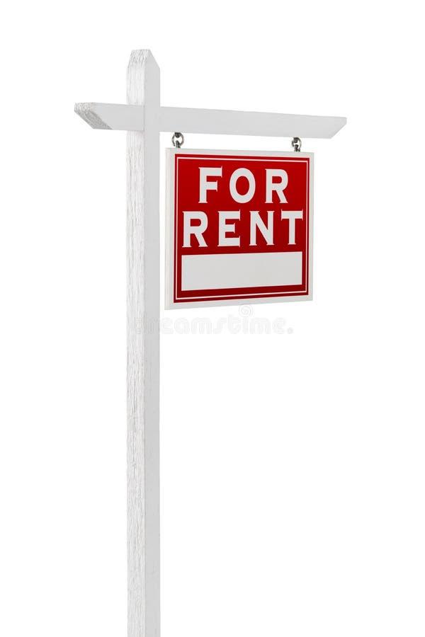 Prawy obszycie Dla Czynszowego Real Estate znaka Odizolowywającego na Białym Backg zdjęcie stock