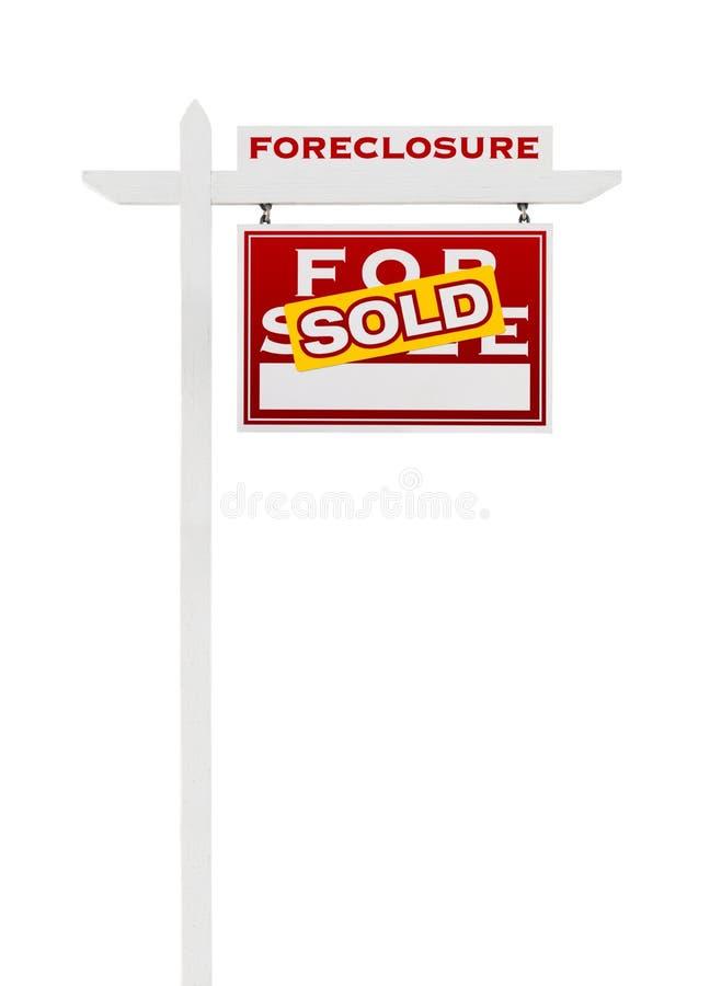 Prawy Okładzinowy Foreclosure Sprzedający Dla sprzedaży Real Estate znaka Odizolowywającego zdjęcia royalty free