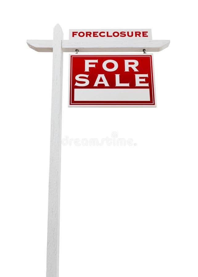 Prawy Okładzinowy Foreclosure Sprzedający Dla sprzedaży Real Estate znaka Odizolowywającego obraz royalty free