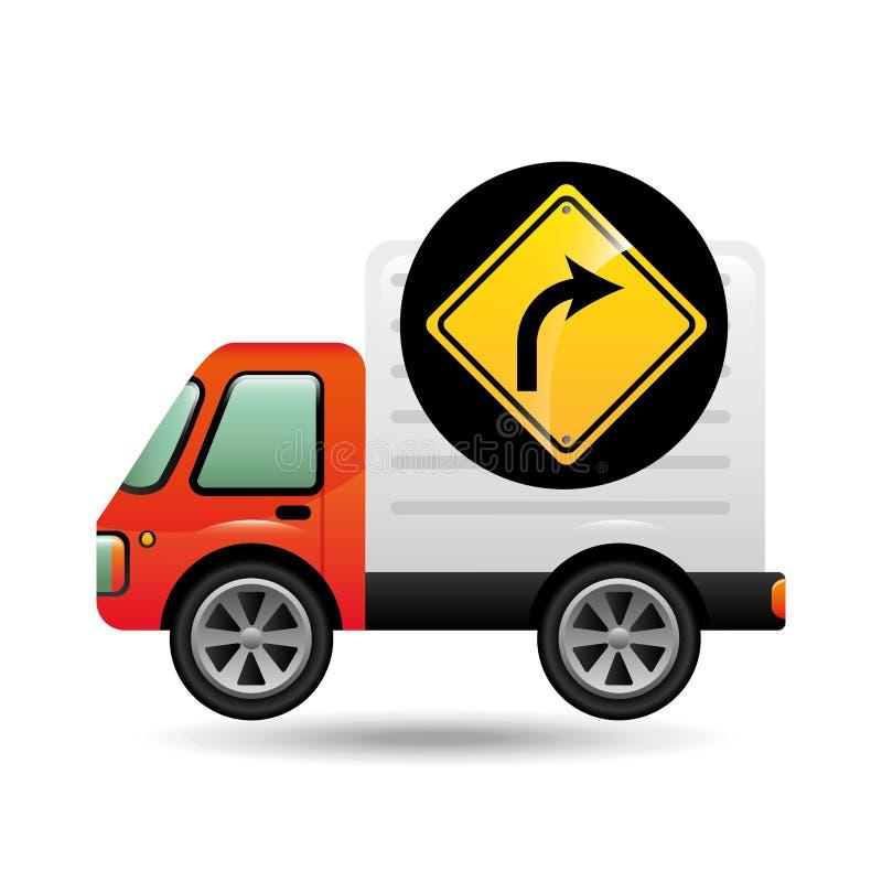 Prawy zwrota ruchu drogowego znaka pojęcie ilustracja wektor