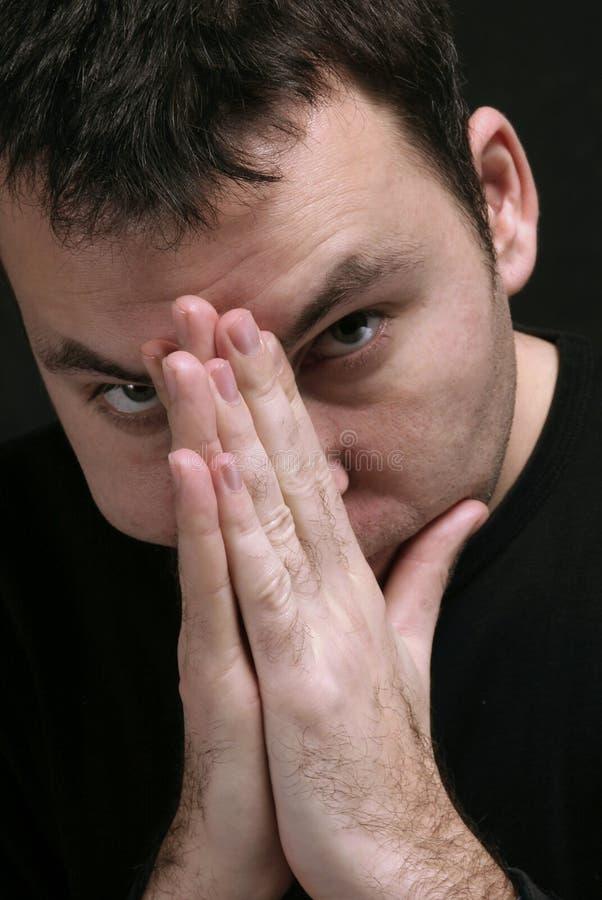 Download Pray imagem de stock. Imagem de macho, medo, retrato, homem - 543091