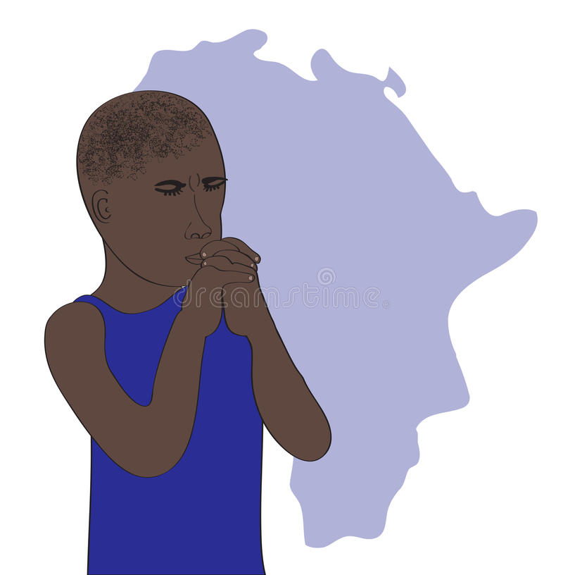 Download Pray for African stock vector. Image of human, africa - 32144941