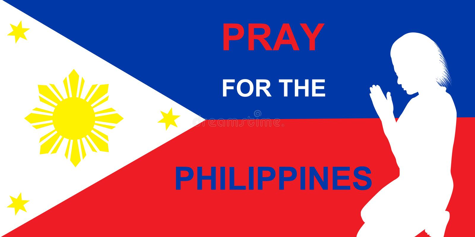 Download Pray for the Philippines stock image. Image of dead, prayer - 35191475