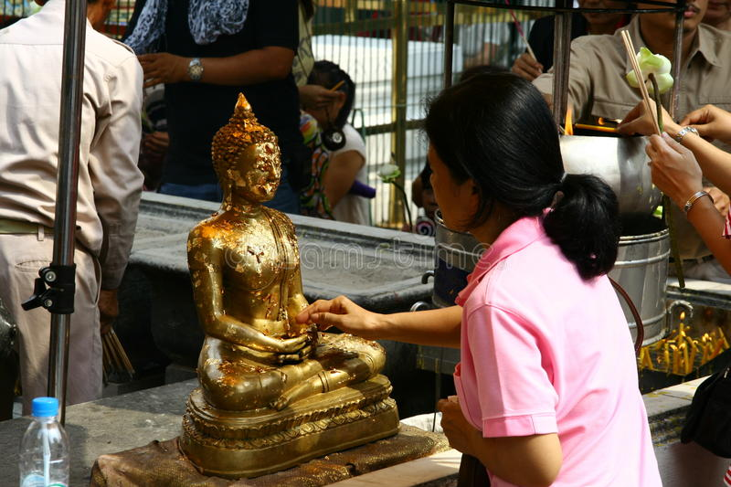 Download Pray to Buddha editorial stock image. Image of tradition - 38298329