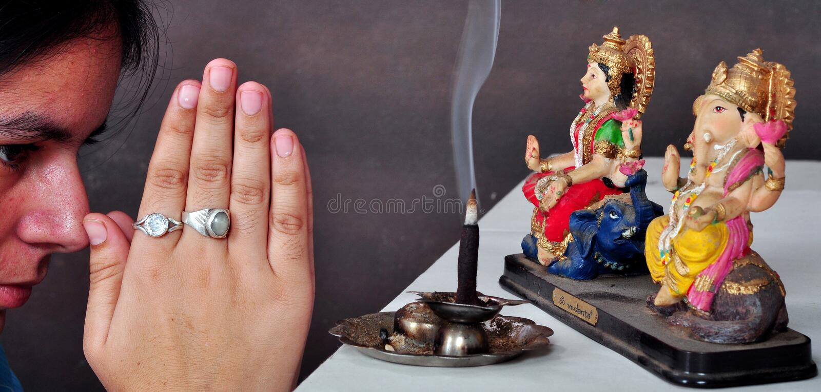 Download Pray to god stock image. Image of cultural, colorful - 16232765