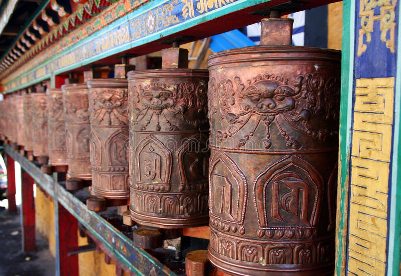 Download Pray wheels in tibet stock image. Image of asian, temple - 26103105