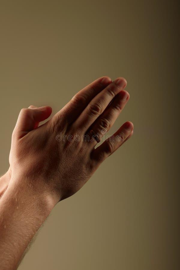 Prayer. Photo of prayer's hands. iso 100 royalty free stock image