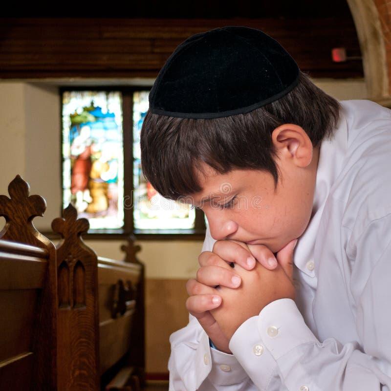 Jewish Boy Praying stock images
