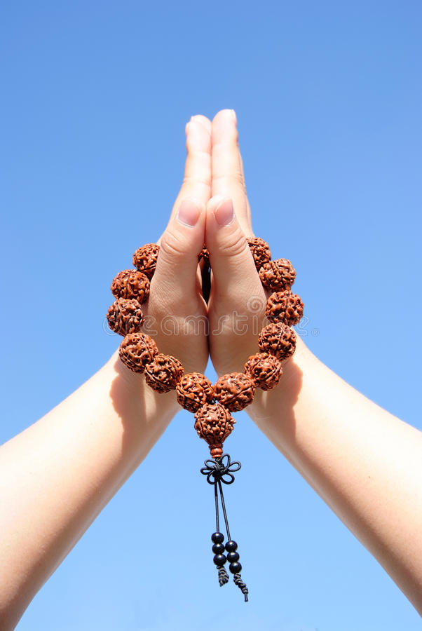 Download Prayer beads in her hands stock image. Image of beads - 11775197