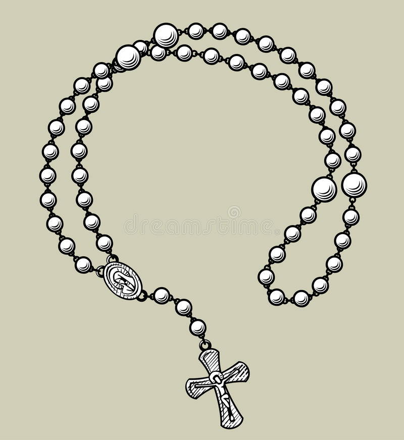 Free Prayer Beads Round Frame Stock Photos - 97894053