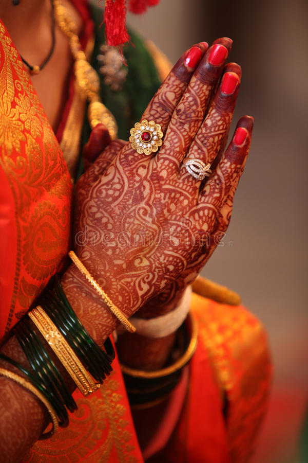 Prayer of a Bride royalty free stock images