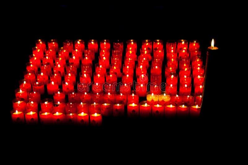 Download Prayer candles stock photo. Image of candlelight, orange - 11440478