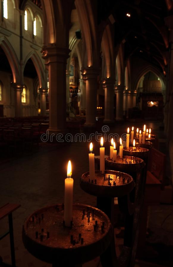 Download Prayer candles in a church stock image. Image of candlelight - 14313499