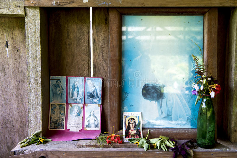 Prayer Corner, Elementary School, Papua New Guinea royalty free stock photography