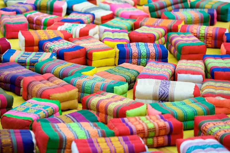 Download Prayer Cushions Thai Buddhist Temple Stock Photo - Image: 17178012