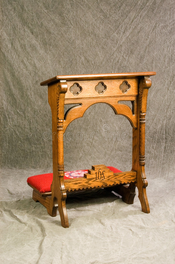 Prayer Desk, Front View Royalty Free Stock Photography