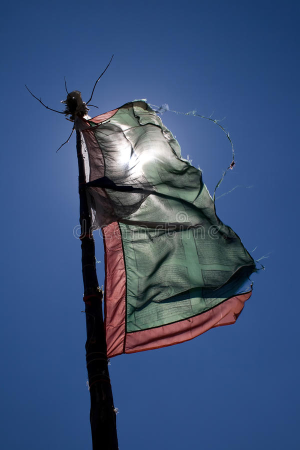 Download Prayer flag stock photo. Image of sacred, icon, stripes - 13126242