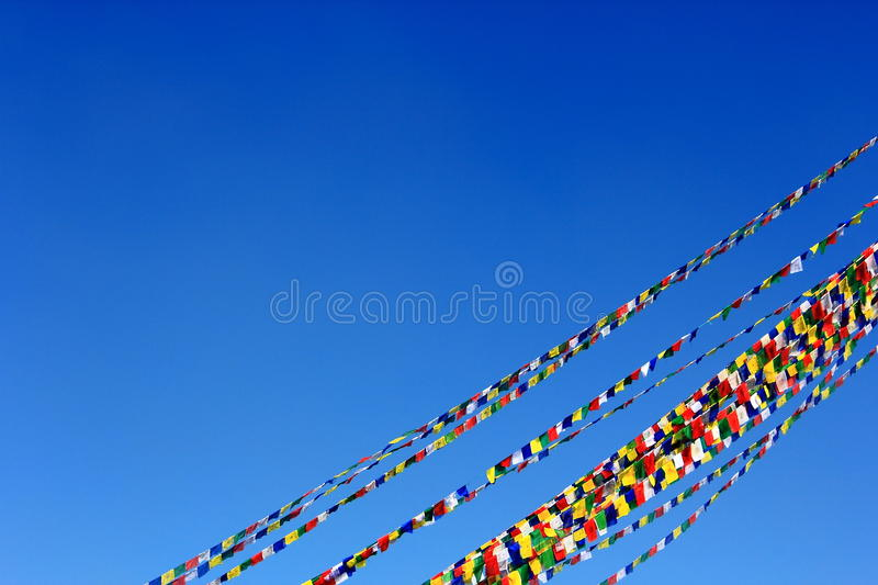 Download Prayer Flag Cords Under Blue Sky Stock Image - Image of prayer, faith: 22118679