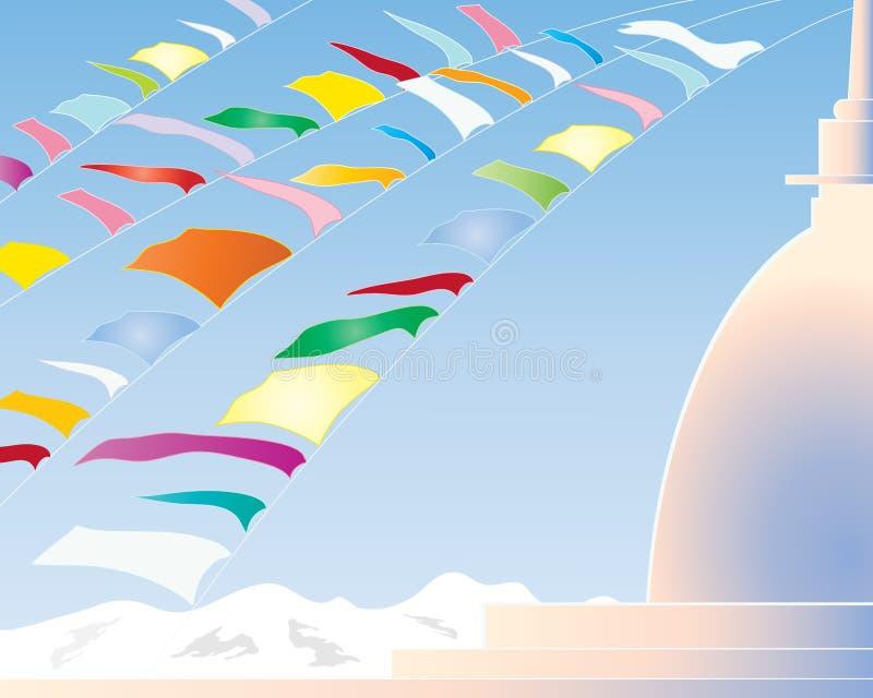 Download Prayer flags stock vector. Illustration of nepal, illustration - 19466583