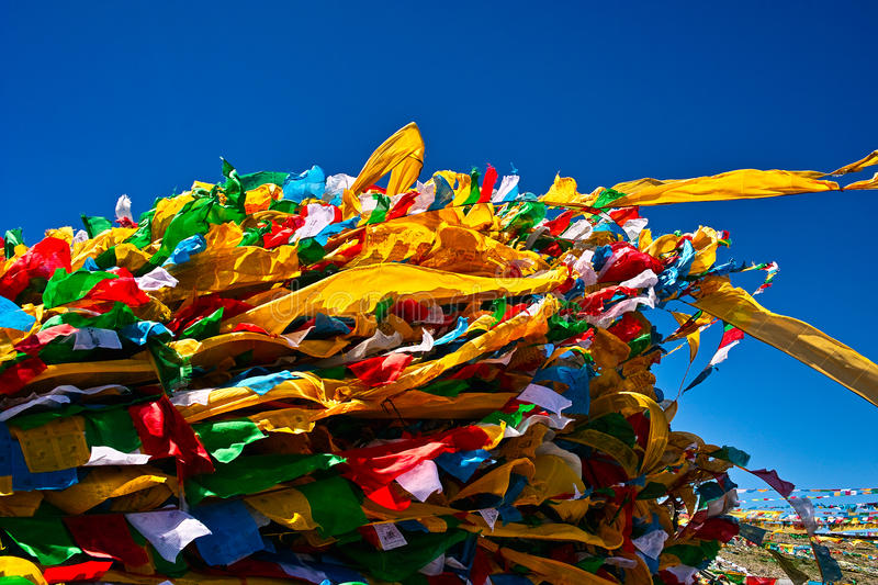Download Prayer flags stock image. Image of flying, yellow, beautiful - 28658027